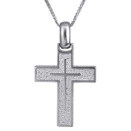 Βαπτιστικοί Σταυροί με Αλυσίδα Ανάγλυφος λευκόχρυσος σταυρός 14Κ 024220C 024220C Ανδρικό Χρυσός 14 Καράτια