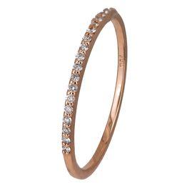 Ροζ gold δαχτυλίδι με διαμάντια Κ18 024589 024589 Χρυσός 18 Καράτια