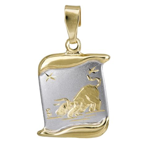 Δίχρωμο παιδικό ζώδιο Ταύρος Κ14 024765 024765 Χρυσός 14 Καράτια