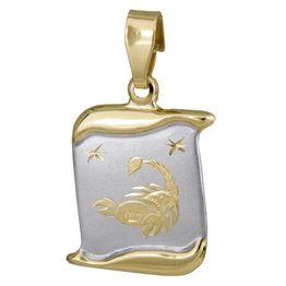 Δίχρωμο ζώδιο Σκορπιός Κ14 024771 024771 Χρυσός 14 Καράτια