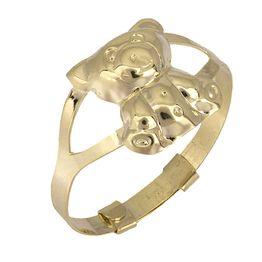 Δαχτυλίδι αρκουδάκι Κ9 025208 025208 Χρυσός 9 Καράτια