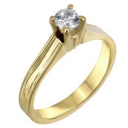 Swarovski μονόπετρο χρυσό Κ14 πλακέ 025521 025521 Χρυσός 14 Καράτια