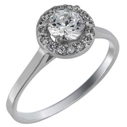 Swarovski μονόπετρο δαχτυλίδι λευκόχρυσο Κ14 025846 025846 Χρυσός 14 Καράτια