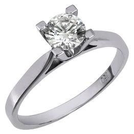 Μονόπετρο πρότασης γάμου με μπριγιάν Κ18 025875 025875 Χρυσός 18 Καράτια