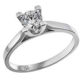Μονόπετρο δαχτυλίδι Κ18 με μπριγιάν 031988 031988 Χρυσός 18 Καράτια