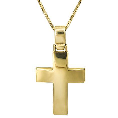 Βαπτιστικοί Σταυροί με Αλυσίδα Οικονομικός σταυρός Κ9 C012486 012486C Ανδρικό Χρυσός 9 Καράτια