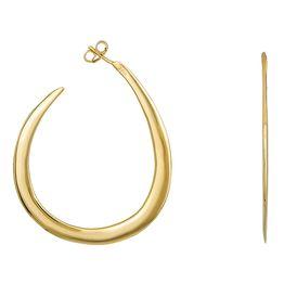 Γυναικεία σκουλαρίκια ασήμι 925 κρίκοι επίχρυσοι 028699 028699 Ασήμι