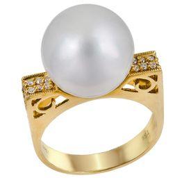 Δαχτυλίδι με μαργαριτάρι South Sea 031123 031123 Χρυσός 18 Καράτια