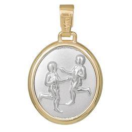 Κρεμαστό ζώδιο Δίδυμος Κ14 δίχρωμο 031315 031315 Χρυσός 14 Καράτια