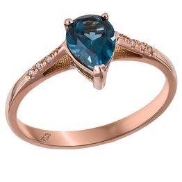 Ροζ gold δαχτυλίδι δάκρυ Κ18 031446 031446 Χρυσός 18 Καράτια