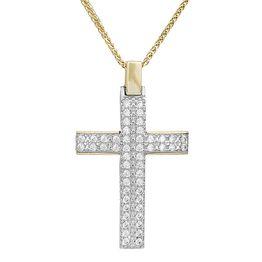 Βαπτιστικοί Σταυροί με Αλυσίδα Βαπτιστικός σταυρός Κ14 πετράτος σετ με αλυσίδα 031893C 031893C Γυναικείο Χρυσός 14 Καράτια