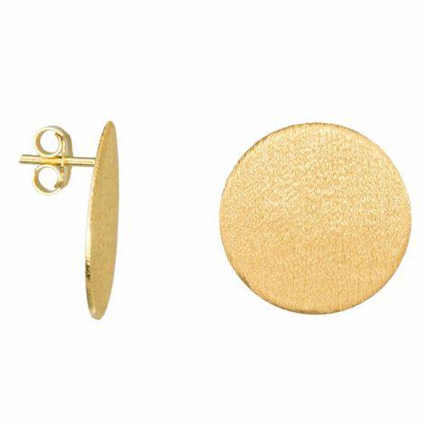 Γυναικεία καρφωτά σκουλαρίκια Gold Circles από ασήμι 925 034989 034989 Ασήμι