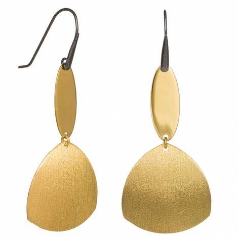 Κρεμαστά γυναικεία σκουλαρίκια από επιχρυσωμένο ασήμι 925 035231 035231 Ασήμι