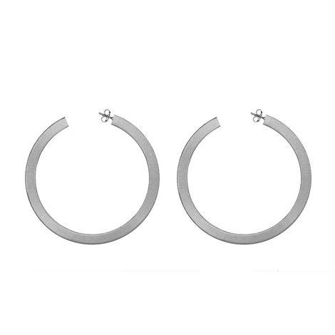 Γυναικεία ασημένια σκουλαρίκια 925 κρίκοι ζαγρέ 035735 035735 Ασήμι