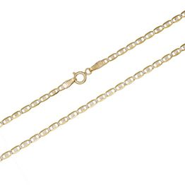Αλυσίδα λαιμού σε διχρωμία 14 καρατίων με διαμαντάρισμα 035892 035892 Χρυσός 14 Καράτια