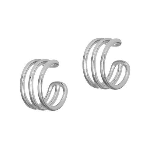Ασημένια γυναικεία σκουλαρίκια 925 τριπλά κρικάκια 036278 036278 Ασήμι
