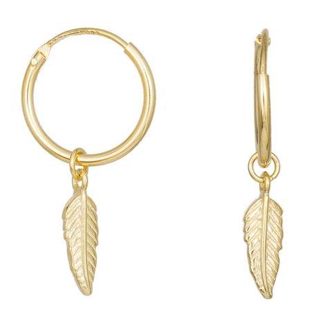 Κρικάκια Gold Wings από επιχρυσωμένο ασήμι 925 036323 036323 Ασήμι