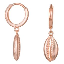 Κρεμαστά γυναικεία σκουλαρίκια 925 ροζ κοχύλια 036328 036328 Ασήμι