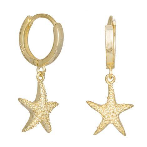 Επίχρυσα σκουλαρίκια με Αστερίες 925 036332 036332 Ασήμι