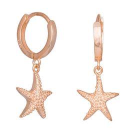 Ροζ σκουλαρίκια με κρεμαστούς Αστερίες 925 036334 036334 Ασήμι