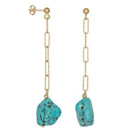 Γυναικεία κρεμαστά σκουλαρίκια 925 Turquoise Baroque 036680 036680 Ασήμι