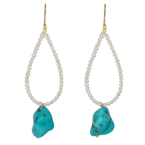 Σκουλαρίκια 925 Tirquaz Baroque και μαργαριτάρια 036681 036681 Ασήμι