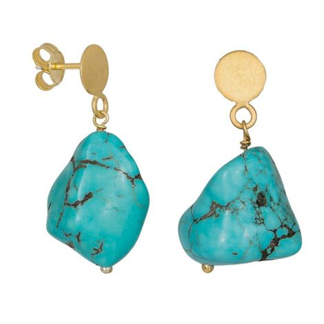 Σκουλαρίκια 925 με κρεμαστά Turquoise Baroque 036682 036682 Ασήμι