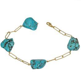 Βραχιόλι γυναικείο με Tirquaz baroque πέτρες 925 036688 036688 Ασήμι