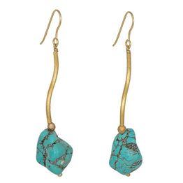 Κρεμαστά σκουλαρίκια 925 Turquoise Baroque 036689 036689 Ασήμι