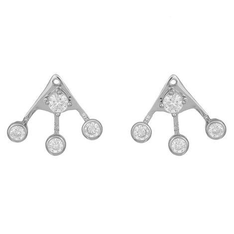 Ασημένια γυναικεία σκουλαρίκια 925 με πέτρες ζιργκόν 037164 037164 Ασήμι