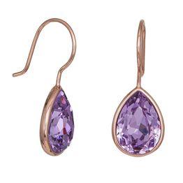 Ροζ επίχρυσα σκουλαρίκια 925 Purple Tears 037431 037431 Ασήμι