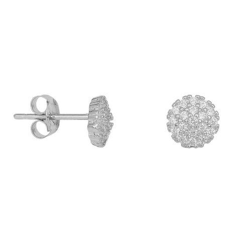 Ασημένια ολόπετρα σκουλαρίκια 925 037623 037623 Ασήμι