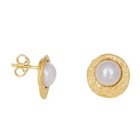 Γυναικεία σκουλαρίκια με λευκά μαργαριτάρια 925 037879 037879 Ασήμι