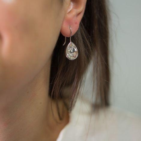Γυναικεία σκουλαρίκια από ασήμι 925 White Drops 038230 038230 Ασήμι