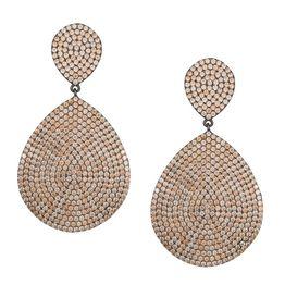 Γυναικεία ολόπετρα σκουλαρίκια με σαμπανί πέτρες 925 038814 038814 Ασήμι