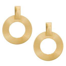 Επίχρυσα σκουλαρίκια με κύκλους ζαγρέ 925 039145 039145 Ασήμι