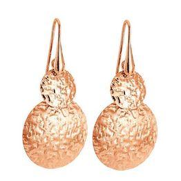Ροζ επίχρυσα 925 σκουλαρίκια Vogue σφυρήλατοι κύκλοι 0101202 0101202 Ασήμι