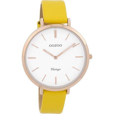 OOZOO ρολόι Yellow leather strap C9387 C9387