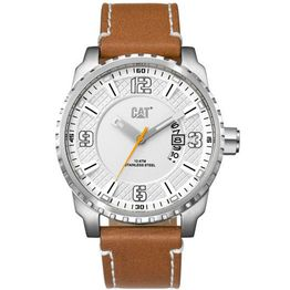Caterpillar Mossville Brown Leather Strap AC14135222 AC14135222 Ατσάλι