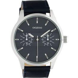 OOZOO Timepieces Αντρικό Ρολόι Blue Leather Strap C10536 C10536