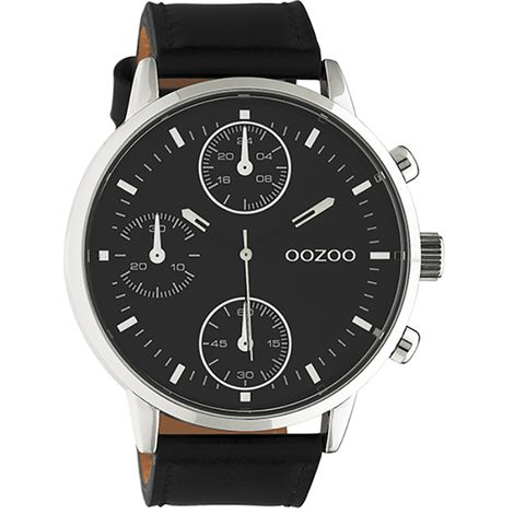 Gents OOZOO Timepieces Black Leather Strap C10668 C10668