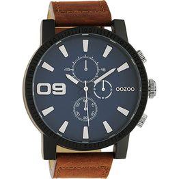 Oozoo Timepieces Αντρικό Ρολόι Brown Leather Strap C10672 C10672
