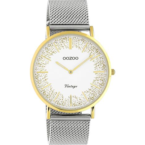 OOZOO Vintage Ladies Silver Metallic Watch C20135 C20135