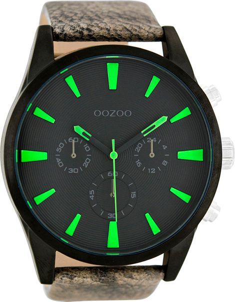 Ρολόι OOZOO XL Τimepieces Gray Leather Strap C8201 C8201