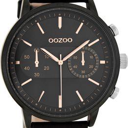 Ρολόι OOZOO Τimepieces Black leather strap C9059 C9059