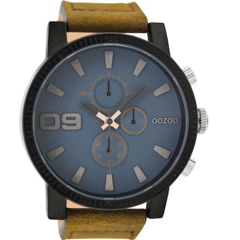 OOZOO Τimepieces XXL Brown Leather Strap C9030 C9030