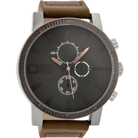 Ρολόι αντρικό OOZOO XXL Brown C9032 C9032