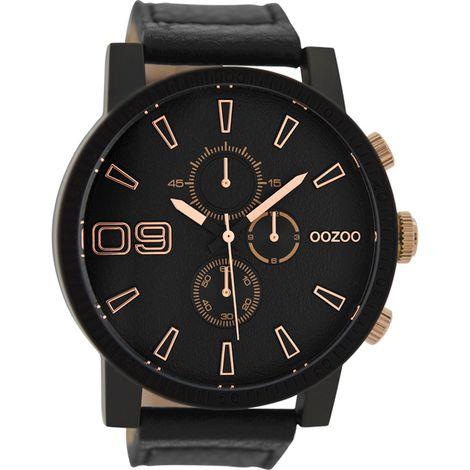 Αντρικό ρολόι OOZOO XXL Black C9034 C9034