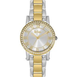 Lee Cooper Two Tone Metallic Watch with crystals LC06354.230 LC06354.230