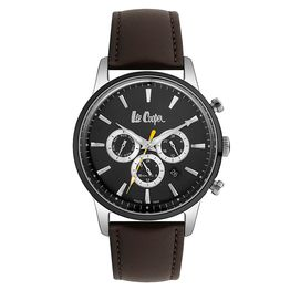 Lee Cooper Mens Dual Time Brown Leather Strap LC06959.352 LC06959.352